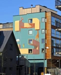 Ett av de finaste husen ... i alla fall snyggaste målningen :)