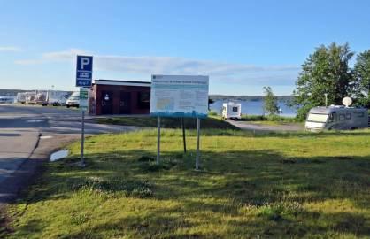 Den fina ställplatsen. Boforsudden, en km utanför Karlskoga centrum ...