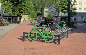 Bra att veta var man ska ställa cykeln ...