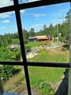 Utsikt från första våningen ...