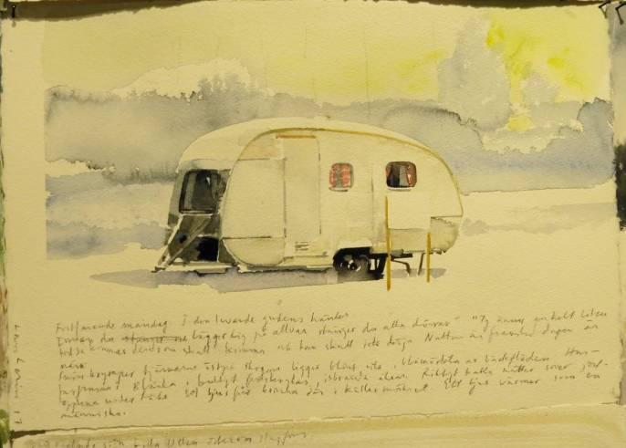 """Den ensamma husvagnen ingick i serien """"Vid vägens slut"""""""