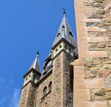 En liten bit av domkyrkan, som uppfördes under åren 1593—1619 ...