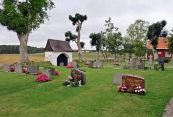 En liten kyrkogård finns det ...