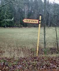 Vid korsvägen ... då är vi snart hemma - bara 1½ km kvar ... och vägen hem går bakom mig ...