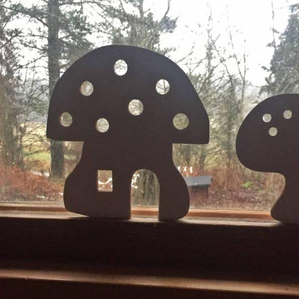 Underbara svampar har nu tagit plats i sovrumsfönstret