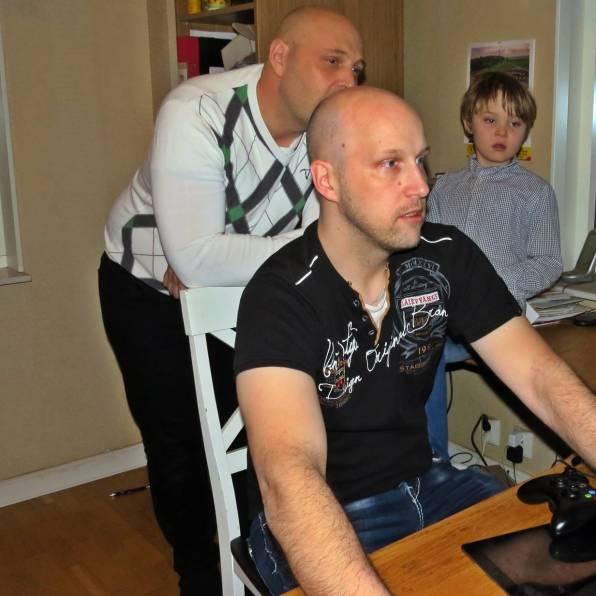 ... och farbror Basse fick hjälpa till att få igång det hela.