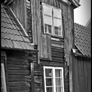 Ett slitet hus, men jag minns inte var ...