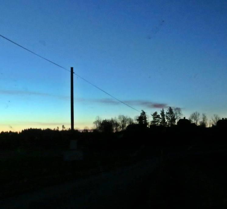Kl. 05:20 ... det börjar ljusna.