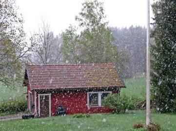 ... och så kom snön.